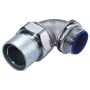 Crimp-on 90-deg Detachable Liquid Tight fitting PG11-3/8